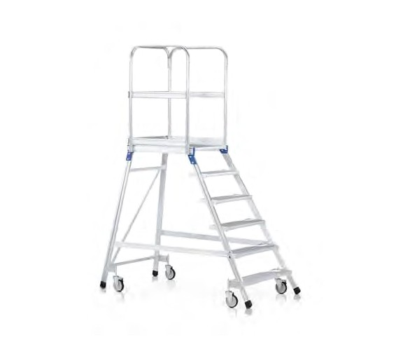 Fahrbare Podesttreppe, einseitig begehbar 41952