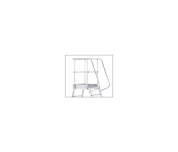 Fahrbare Podestleiter, einseitig begehbar Handlauf (3-5 Stufen) 40060