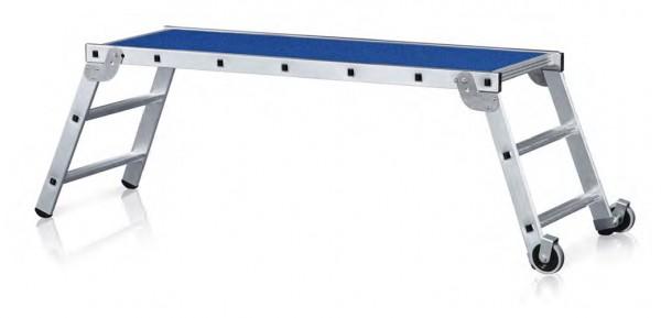 Arbeitsplattform klappbar incl. Rollen, Geländer und Ablage 40041