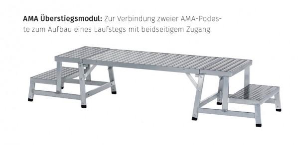 Aluminium Modul Arbeitspodest Überstiegsmodul 1m 40273