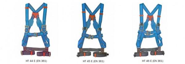 Technischer Auffanggurt mit exklusiver Beinberiemung und optional mit Elastrac-Komfort HT 45 BA E