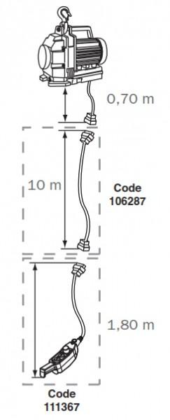 Minifor Zubehör Steuerkabel Verlängerung, Länge 10 m,