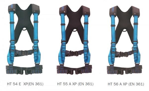Technischer Auffanggurt mit exklusiver Beinberiemung, X-Pad und optional mit Elastrac-Komfort HT 56 XP