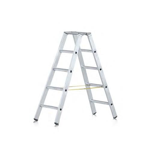 Stufen-Stehleiter beidseitig begehbar 41586
