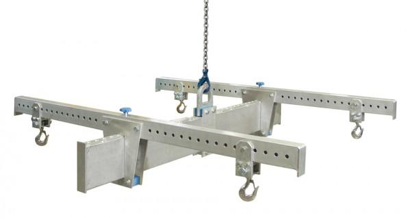 Aluminium-Lasttraverse in H-Bauweise